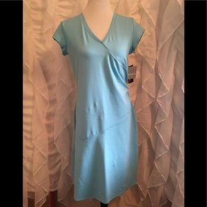 🆕 Athleta, Nectar Faux Wrap, Ruched Dress, Size M
